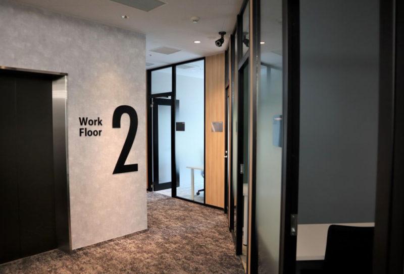 施設内ワークスペースは個室やブース、フリースペースがあります。